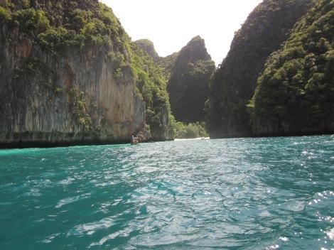 Approaching Maya Bay in Ko Phi Phi
